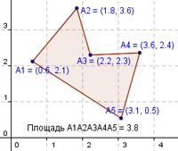 Площадь многоугольника по координатам-4