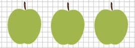 Создаем на рабочем столе три экземпляра яблока