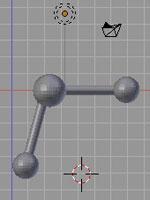 Blender. Молекула воды