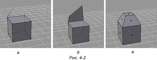 Blender. Применение модификаторов G, R. S для подобъектов