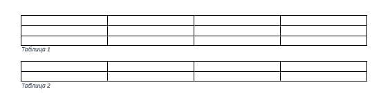 Нумерация таблиц в ворде